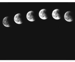 black&white, headers, and phases of the moon image