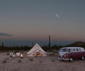 tent, hippie, and moon image