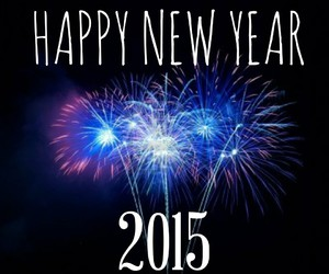 blue, fireworks, and happy new year image