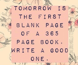 new year, quote, and book image