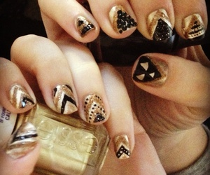 gold, nails, and new image