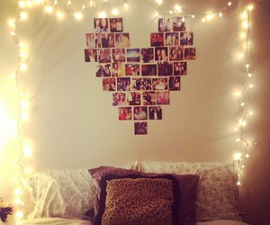 heart, light, and bed image