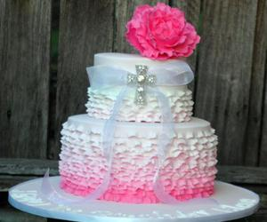 cake, flower, and food image