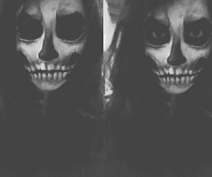 corpse, make up, and skeleton image