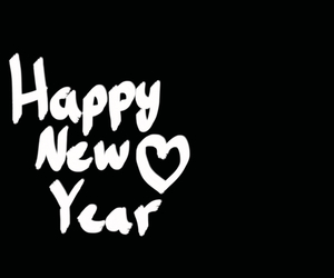 black and white, happy new year, and mine image