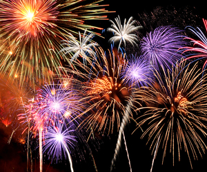 colors, fireworks, and sky image