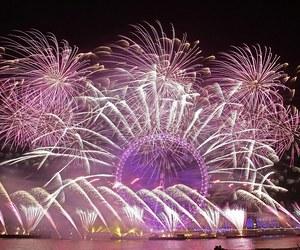 fireworks, london, and NYE image