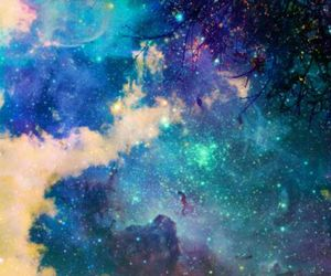 beauty, black, and galaxy image