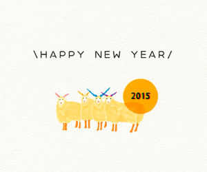 happy new year, sheep, and 2015 image
