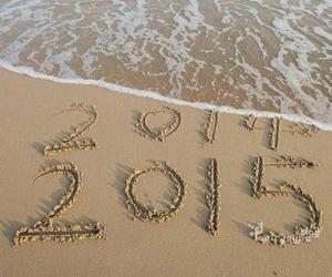 beach, new year, and playa image
