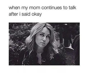 funny, miley cyrus, and mom image