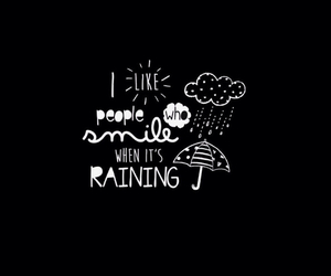 rain, smile, and love image
