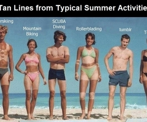 funny, summer, and tan image