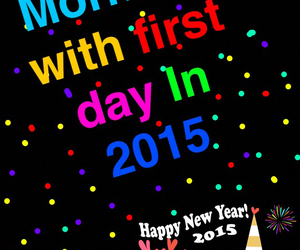 day, happy new year, and 2015 image