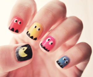 ghost, nom nom, and nailart image