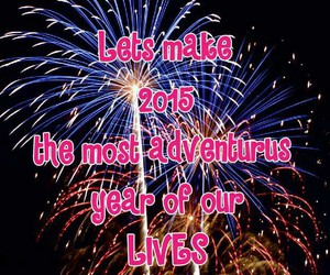 adventure, fireworks, and happy new year image