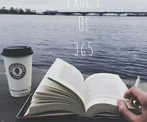 book, coffe, and grey image