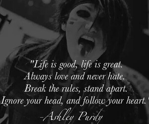 black veil brides, ashley purdy, and quote image