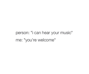music, text, and welcome image