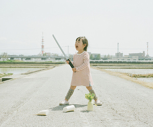 child, samurai, and japan image
