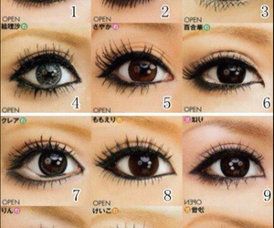 gyaru, eyes, and makeup image