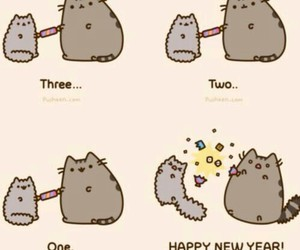 cat, cute, and new year image