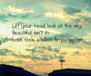 beautiful, text, and sky image