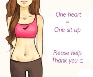 abs, do it, and heart image