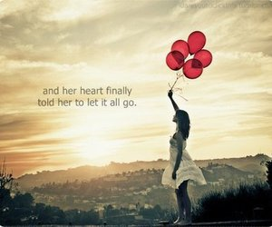 balloons, quote, and heart image