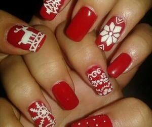 nails, winter, and newyear image