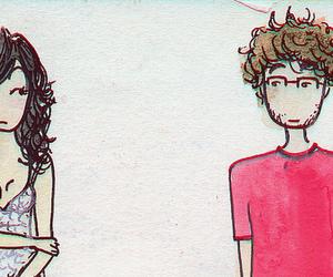 couple, desenho, and watercolor image
