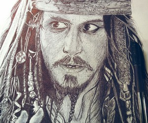 artwork, drawing, and pirates of the caribbean image