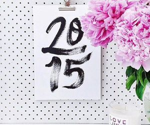 2015, flowers, and pink image