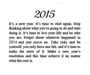 be yourself, happy, and new year image
