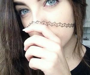 girl, grunge, and eyes image