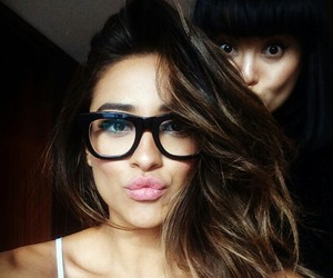 shay mitchell, glasses, and hair image
