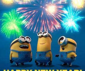 minions, happy new year, and happy image