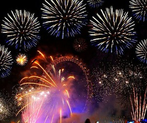 london, fireworks, and happy new year image