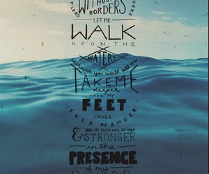 Hillsong, oceans, and quote image