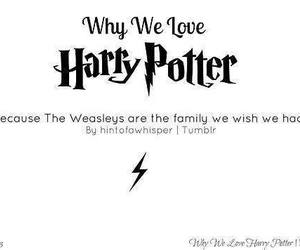 harry potter, weasleys, and love image