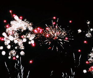 firework, fireworks, and happy image