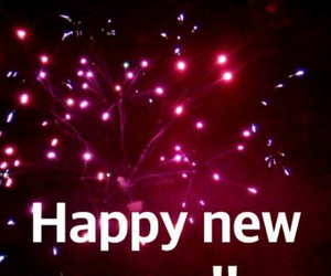 happy new year, fireworks, and happy image