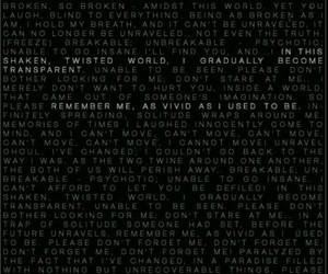 Lyrics, opening, and unravel image