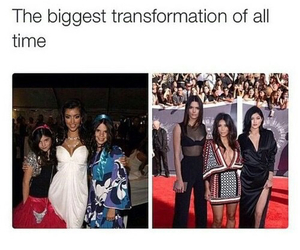 funny, transformation, and kardashian image