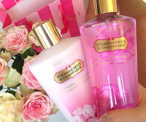 Victoria's Secret, pink, and flowers image