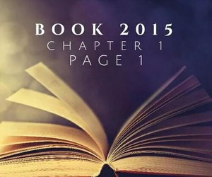 book, new year, and page image