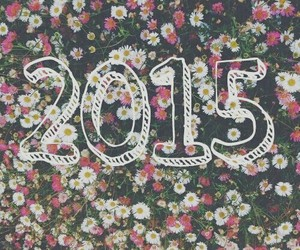 new year, 2015, and flowers image