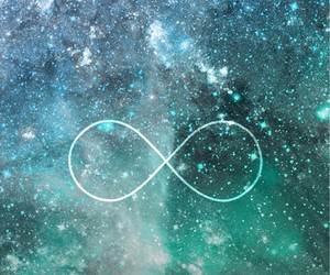 infinity, galaxy, and wallpaper image