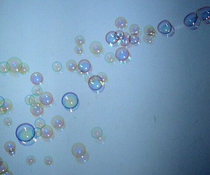 beautiful, blue, and bubbles image