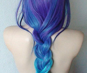 hair, tumblr, and blue image